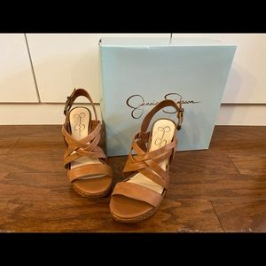 Jessica Simpson Size 8.5 Strappy Wedge Sandal